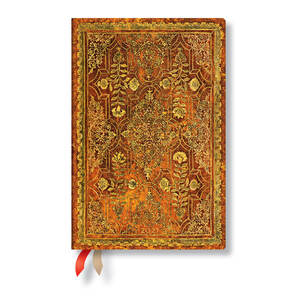 Paperblanks Persimmon Fall Filigree 2021 Diary Mini