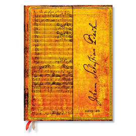 Ultra Paperblanks Embellished Manuscripts 2019-2020 18 Month Diary Bach, Cantata Vertical Week-to-Vi
