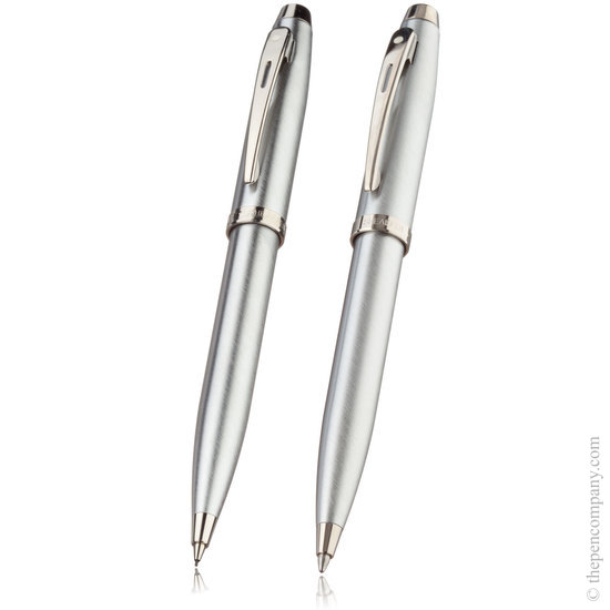 Sheaffer 100 set Brushed Chrome - 1