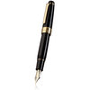 Sailor King Professional Gear Fountain Pen Black with Gold Trim - 1