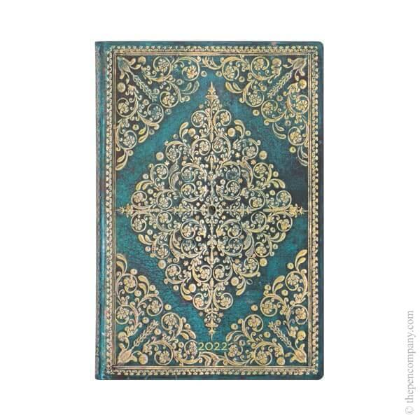 Mini Paperblanks Diamond Rosette Flexi 2022 Diary 2022 Diary