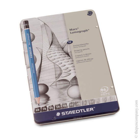 Staedtler Mars Lumograph Pack of 12 Pencil 8B - 2H - 1