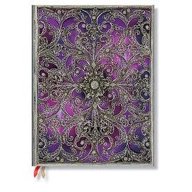 Paperblanks Silver Filigree Aubergine Ultra 2016 Horizontal Diary - 1
