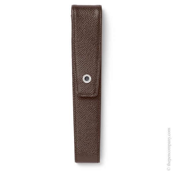 Dark Brown Graf von Faber-Castell Epsom Tapered Pen Case for One