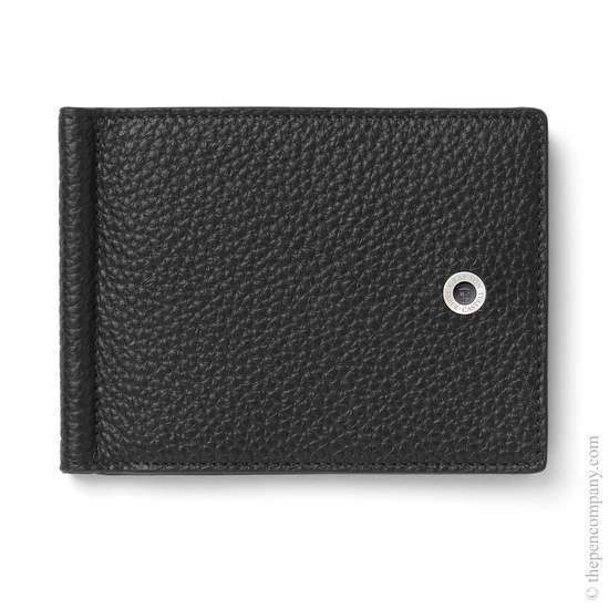 Black Graf von Faber-Castell Credit Card Holder with Money Clip - 1