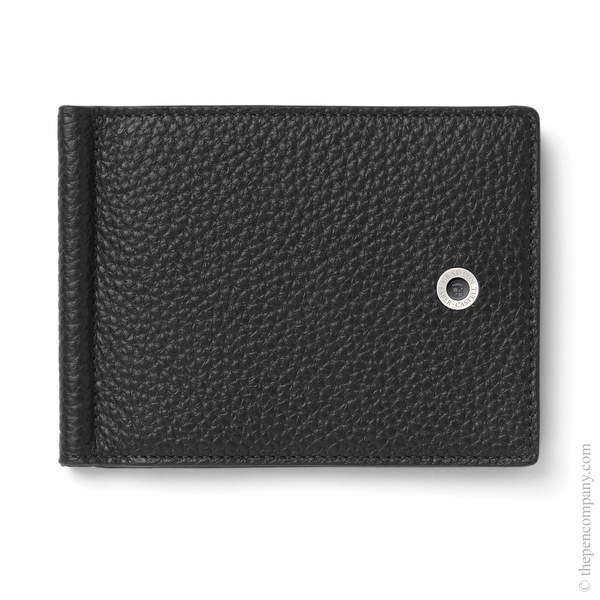 Black Graf von Faber-Castell Cashmere Credit Card Holder with Money Clip