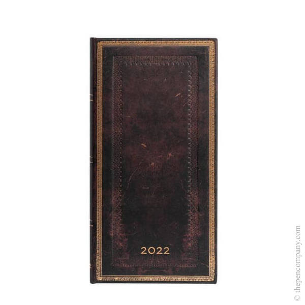 Slim Paperblanks Old Leather 2022 Diary 2022 Diary