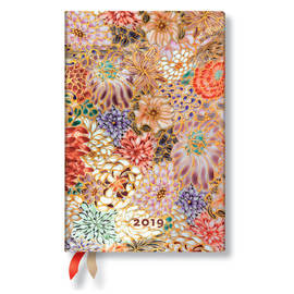 Mini Paperblanks Michiko 2019 Diary Kikka Horizontal Week-to-View - 1