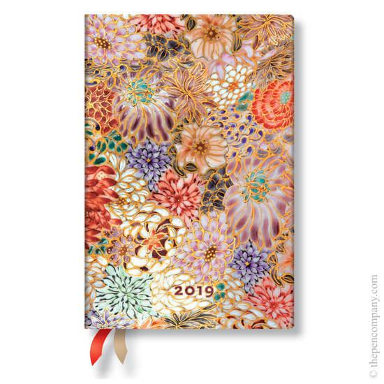 Mini Paperblanks Michiko 2019 Diary Kikka Horizontal Week-to-View - 1