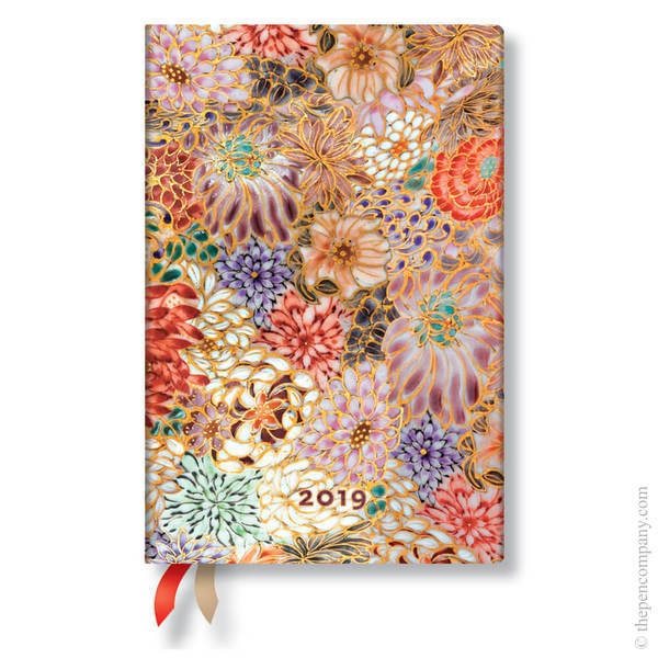Mini Paperblanks Michiko 2019 Diary Kikka Verso Week-to-View