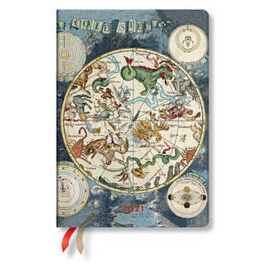 Paperblanks Celestial Planisphere Early Cartography Flexi 2021 Diary Midi