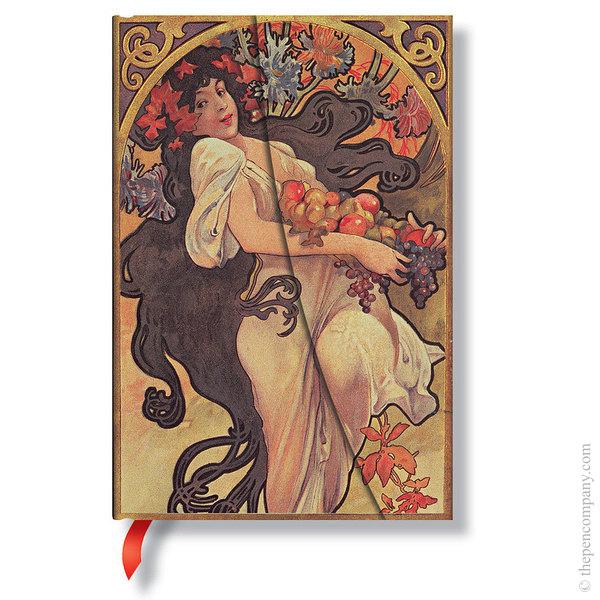 Midi Paperblanks Mucha Journal Autumn Maiden Lined