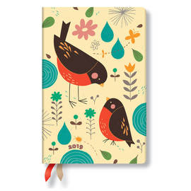 Mini Paperblanks Tracy Walker Animal Friends 2019 Diary Mother Robin Day-to-View - 1