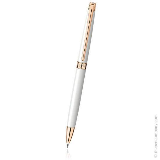 White Caran d Ache Léman Slim Mechanical Pencil - 1