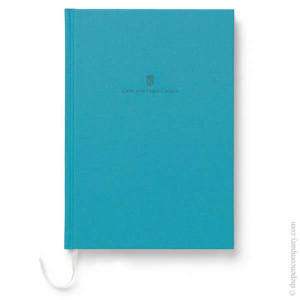 A5 Turquoise Graf von Faber-Castell Linen Notebook Journal