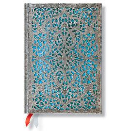 Paperblanks Silver Filigree Maya Blue Midi 2016 Daily Diary - 1