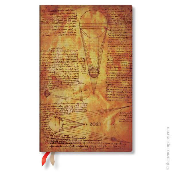 Maxi Paperblanks Leonardo's Sketches Flexi 2021 Diary 2021 Diary