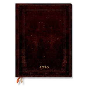 Ultra Paperblanks Old Leather Flexi 2020 Diary Black Moroccan Day-to-View - 1