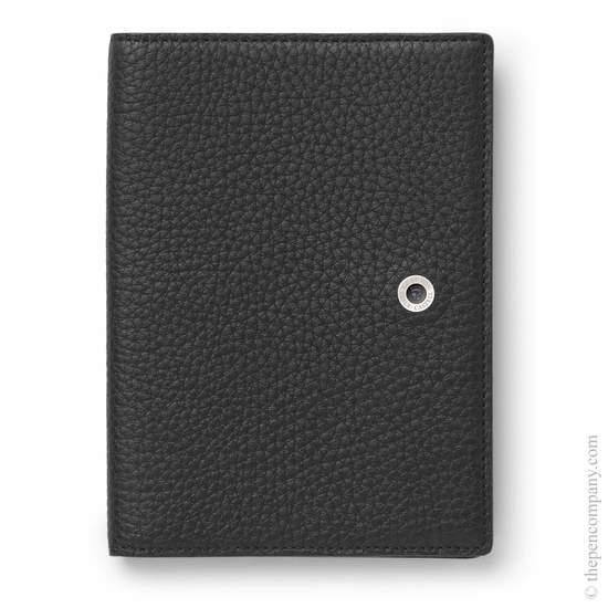 Black Graf von Faber-Castell Cashmere Leather Passport Holder Cover - 1