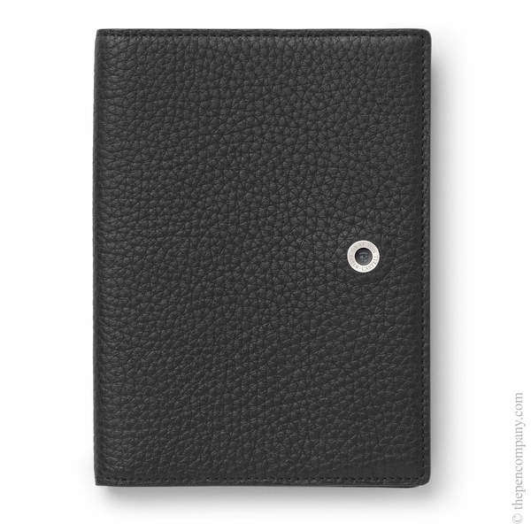 Black Graf von Faber-Castell Cashmere Leather Passport Holder Passport Cover