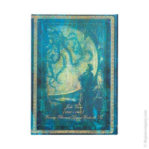 Midi Paperblanks Embellished Manuscripts 2022 Diary 2022 Diary Verne, Twenty Thousand Leagues Horizontal Week-to-View