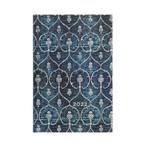 Paperblanks Blue Velvet Blue Velvet 2022 Diary Mini - Front