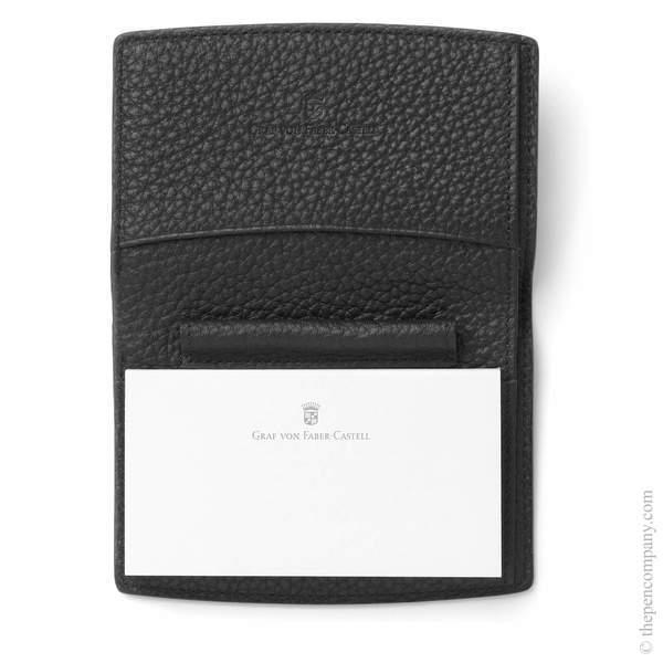 Black Graf von Faber-Castell Epsom Notepad Case Landscape Notepad Cover