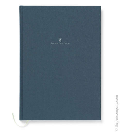 Blue A4 Graf von Faber-Castell Linen Notebook Journal - 1
