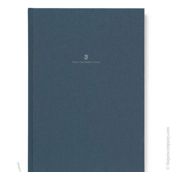 A4 Night Blue Graf von Faber-Castell Linen Notebook Journal