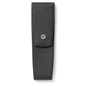 Black Graf von Faber-Castell Epsom Tapered Pen Case Two - 1