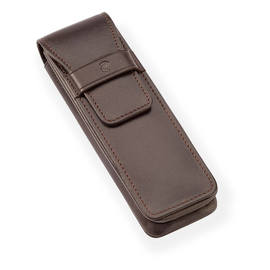Brown Staedtler Leather Pen Case for Two Pens - 1