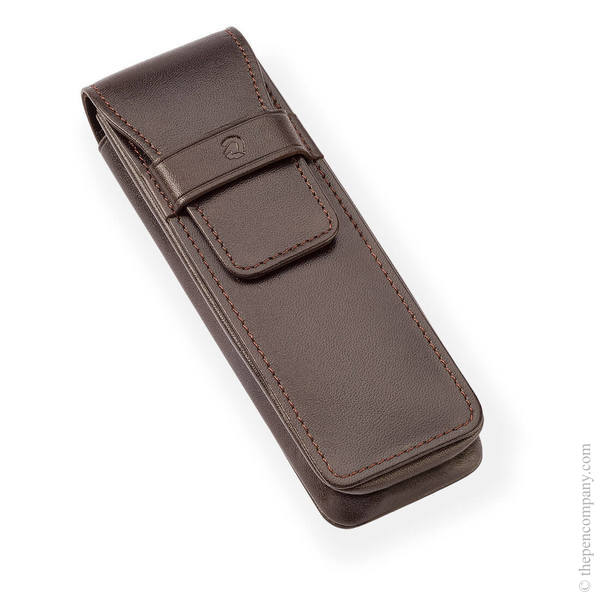 Brown Staedtler Leather Pen Case for Two