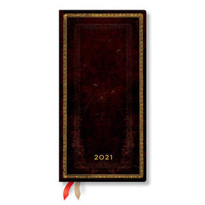 Paperblanks Black Moroccan Old Leather 2021 Diary Slim