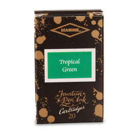 Tropical Green Diamine 150th Anniversary Ink Cartridges - 1
