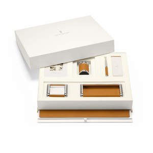 Cognac Graf von Faber-Castell Epsom Desk Accessories Set - 1