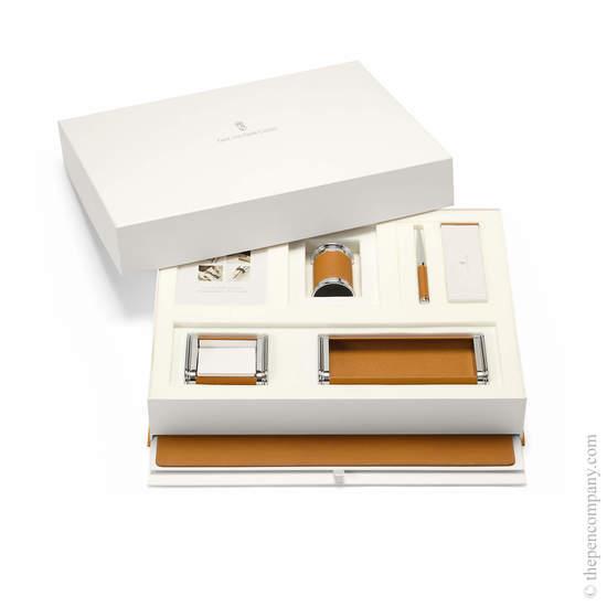 Cognac Graf von Faber-Castell Epsom Desk Accessories Set - 1