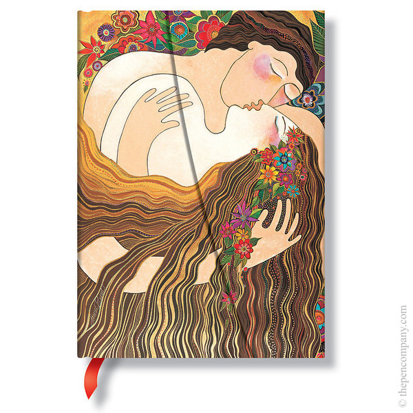Midi Paperblanks Laurel Burch - The Lovers Journal The First Kiss Lined