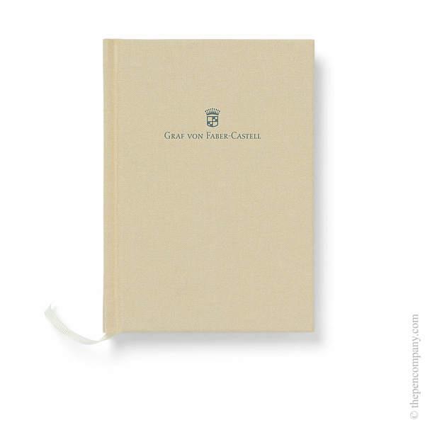 A6 Golden Brown Graf von Faber-Castell Linen Notebook Journal