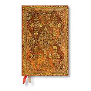 Mini Paperblanks Fall Filigree 2020 Diary Persimmon Horizontal Week-to-View - 1