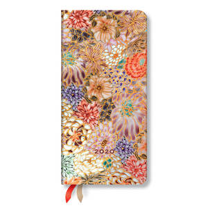 Slim Paperblanks Michiko 2020 Diary Kikka Horizontal Week-to-View - 1