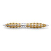 Jack Row Jaali fountain pen Gold with Petrol Blue Diamonds - 4