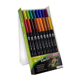 Tombow ABT 18 brush pen set - primary - 1