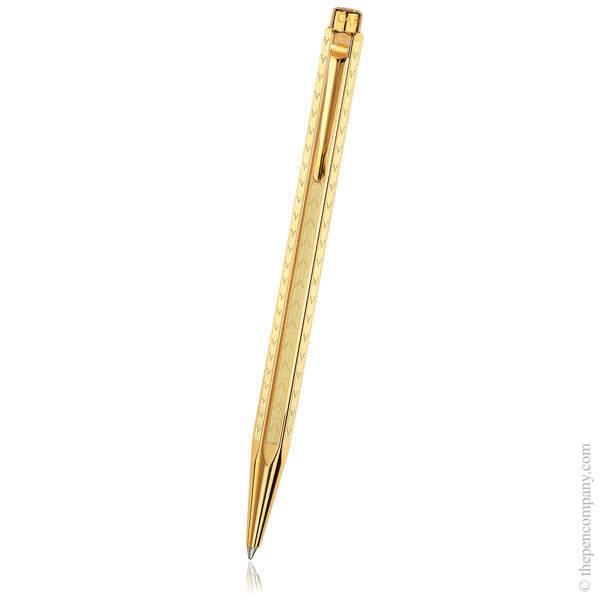 Gold Chevron Caran d'Ache Ecridor Ballpoint Pen