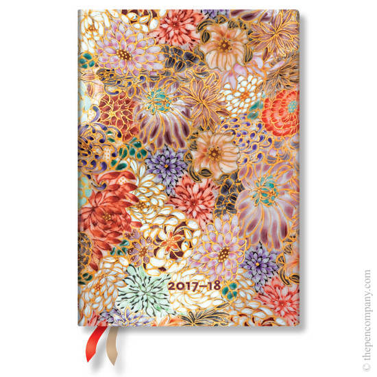 Midi Michiko 2017-2018 18 Month Diary Kikka Horizontal Week-to-View - 1