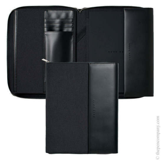 Dark Grey A4 Hugo Boss Advance Conference Folder - 2