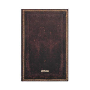 Paperblanks Black Moroccan Old Leather 2022 Diary Maxi - Front