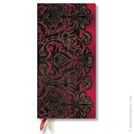 Slim Lace Allure 2018 Diary Rouge Boudoir Horizontal Week-to-View - 1