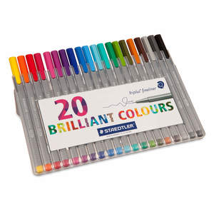 Assorted Staedtler Triplus Fineliner Pack of 20 - 1