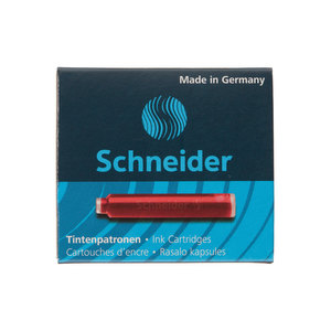 Red Schneider ink cartridges - 1