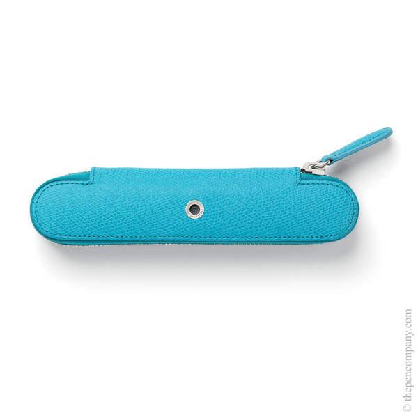 Gulf Blue Graf von Faber-Castell Epsom Zipper Pen Case for One